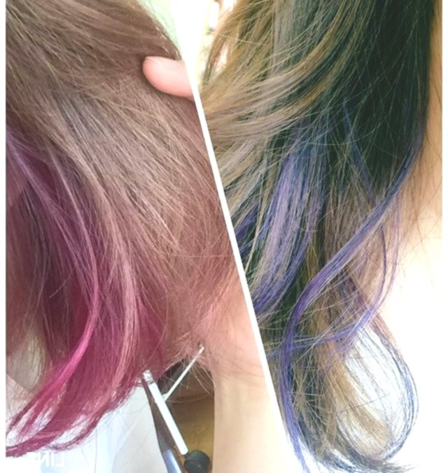 Fascinating dyed hair pattern-Finest dyed hair models