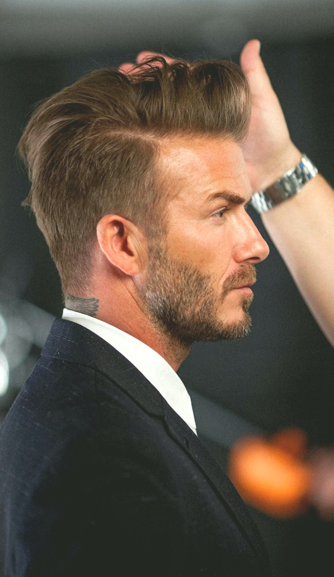 Handsome men hairstyling high brow inspiration-Modern man hairstyles High brow layout