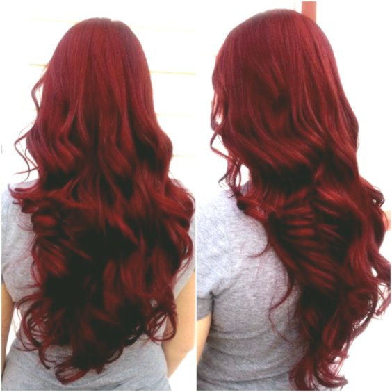 Lovely red hair coloring plan-Lovely red hair dyeing layout