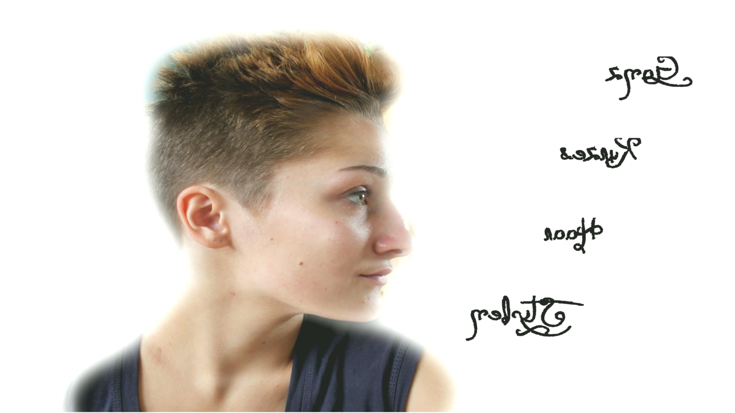 lovely short hair with pony photo-luxury short hair with pony portrait