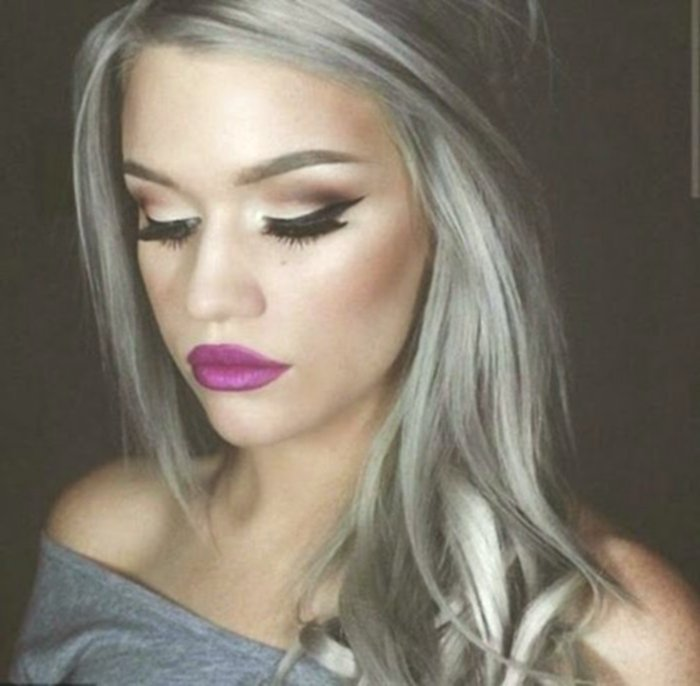 beautiful hair-colored blond gray design-luxury hair colors blond gray model