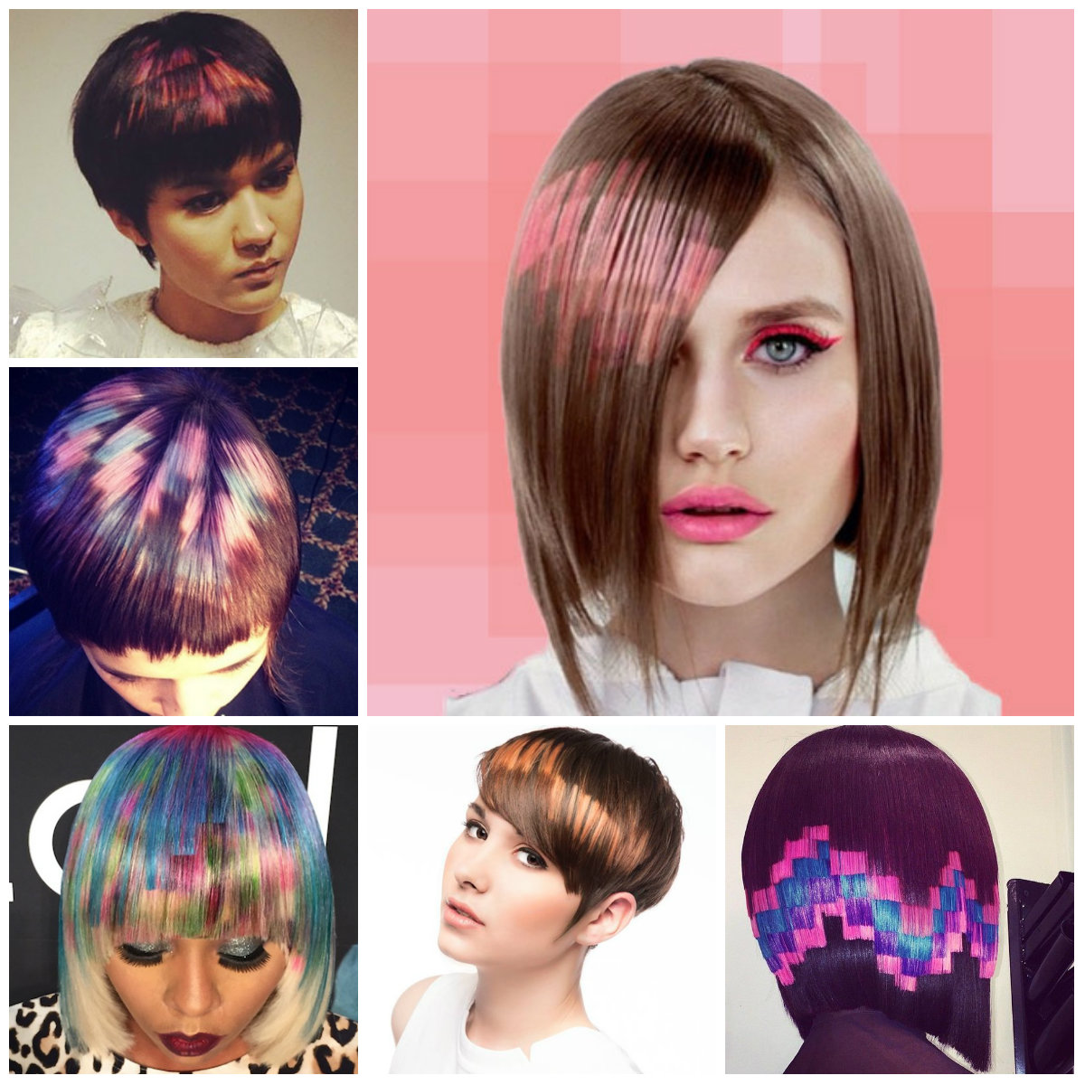 It is a picture of Hilaire Pixel Hair Coloring