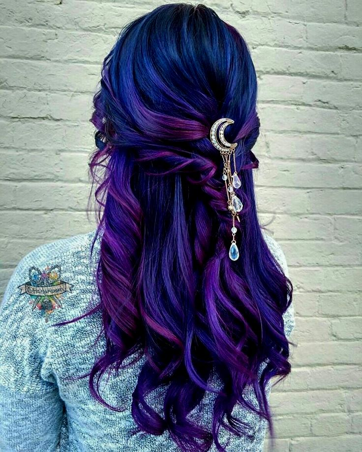 lovely hair blue dyeing design Beautiful hair blue dyeing collection