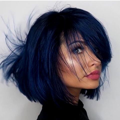 newest hair blue dyeing picture - Beautiful hair blue dyeing collection