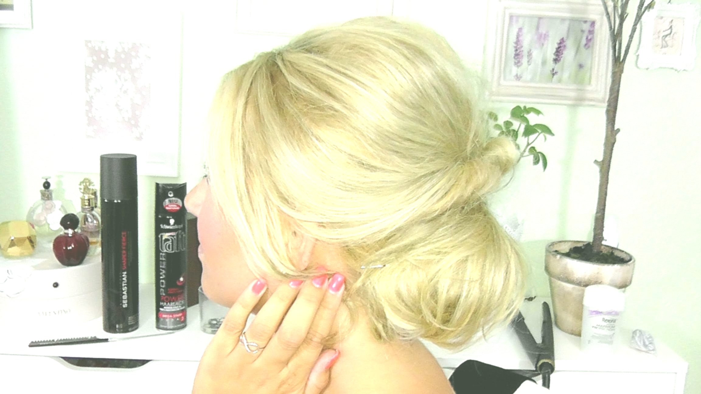 terribly cool updo on the side photo-modern updos Side portrait