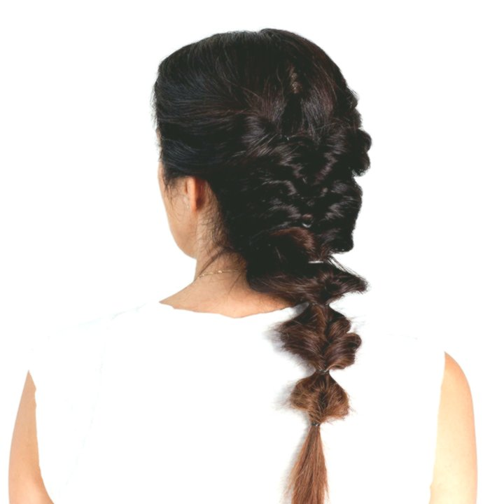 beautiful hair braiding itself inspiration-Modern hair self braiding models