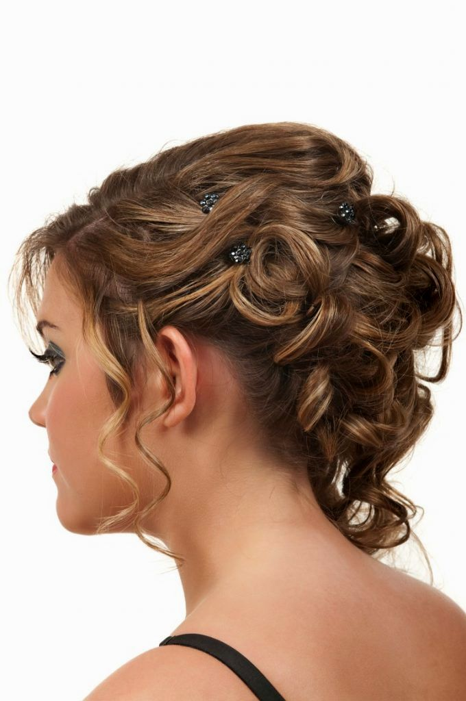 luxury updos with curls photo-modern updos with curls portrait