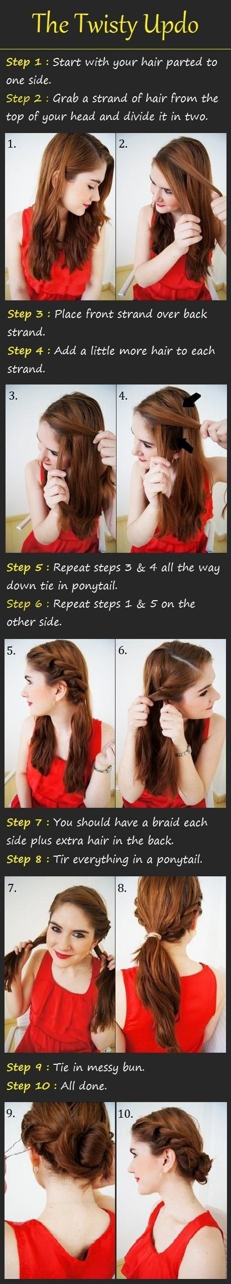Nizza Updo Frisuren Tutorials: Braid Twist Hochsteckfrisur