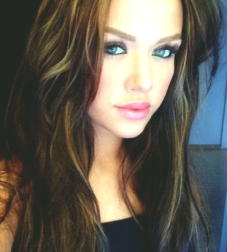latest dark brown hair with blond strands photo picture New Dark Brown Hair With Blonde Strands Concepts