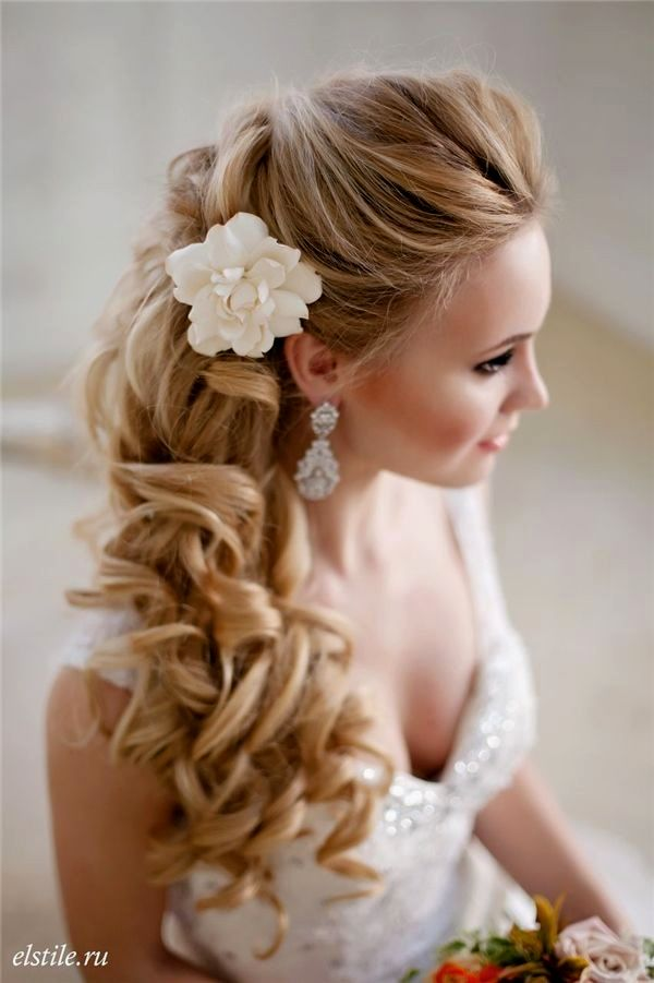excellent wedding hairstyles semi-open gallery-Modern wedding hairstyles semi-open layout