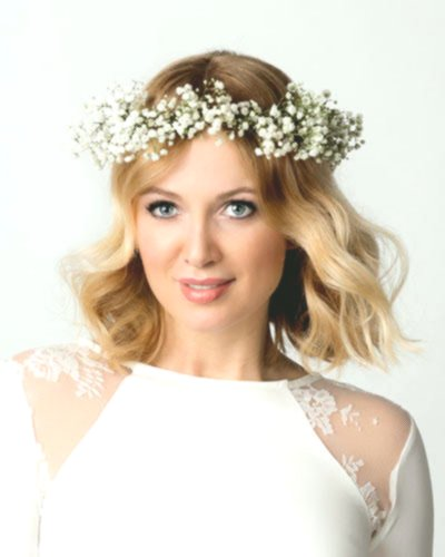 contemporary open hair wedding design Beautiful Open Hair Wedding Model