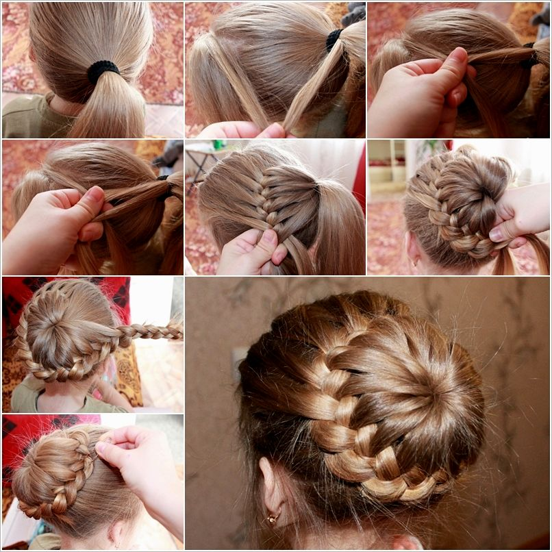 contemporary braided hairstyles with a dutt model Cool braided hairstyles With Dutt architecture
