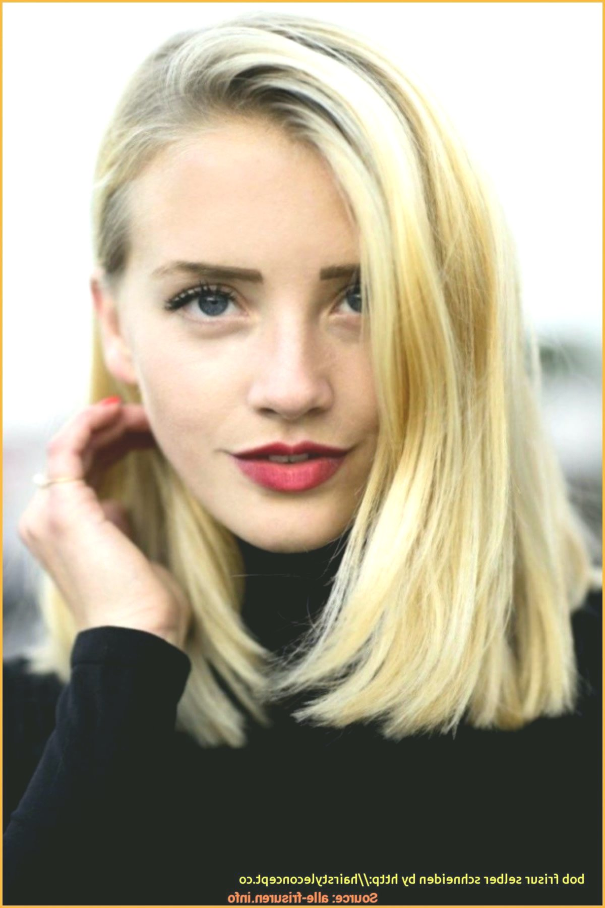 elegant hair self cutting bob concept modern hair self cutting bob photo