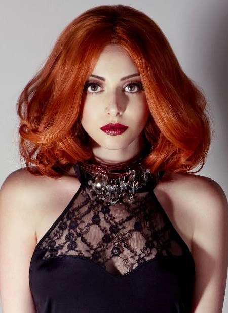 Copper Red Lob Hairstyle 2019