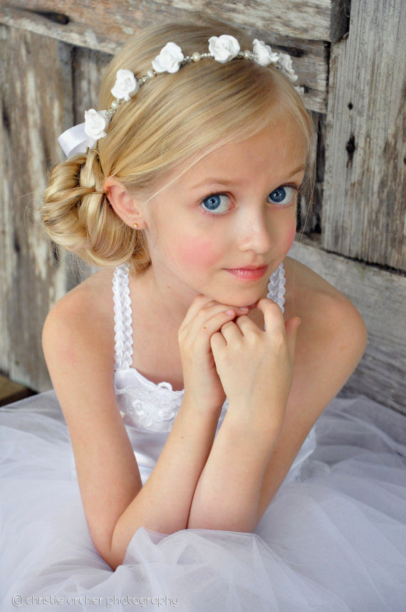 best flower girl hairstyles inspiration elegant flower girl hairstyles portrait