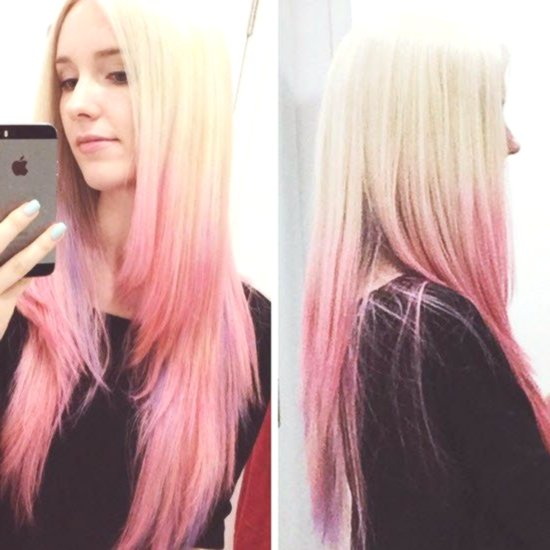 contemporary pastel pink hair ombre plan-stylish pastel pink hair ombre photo