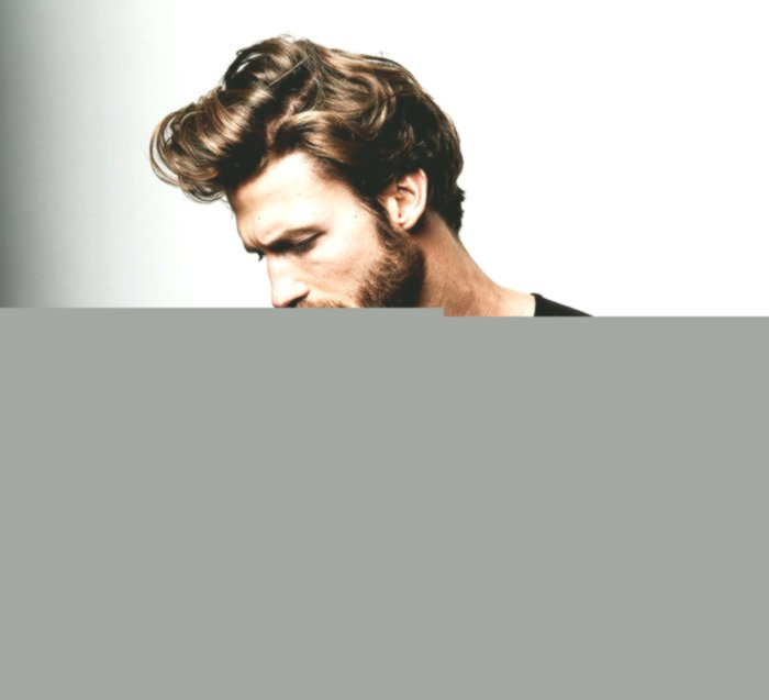 New long hair men's style pattern-Charming Long Hair Men's Style Wall
